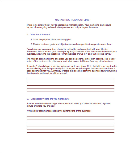 15+ Free Business Plan Template - Word PDF - Template Section