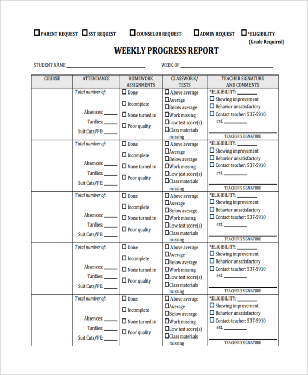 Free Weekly Report Template - 12 + Excel, Powerpoint, Word