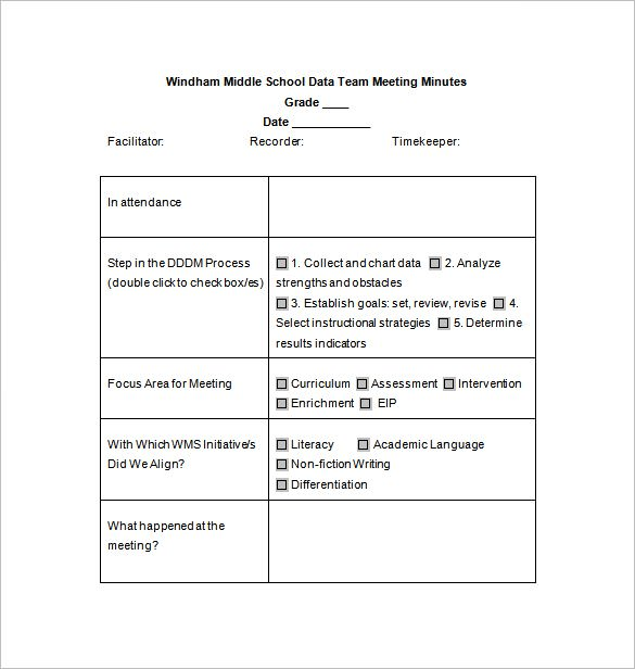Fill-able Meeting Agenda Form in MSWORD Templates Download