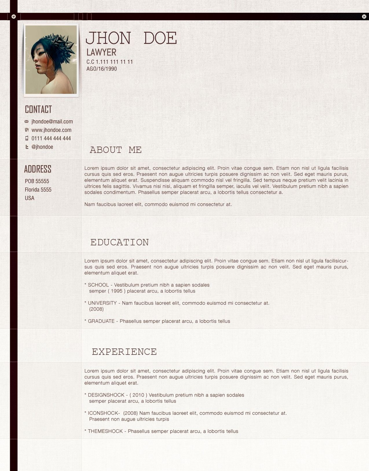 Cv Example In English Lawyer | Cover Letter And Resume Samples