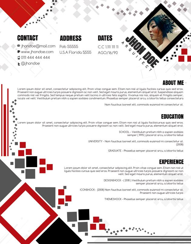 Attractive CV Template