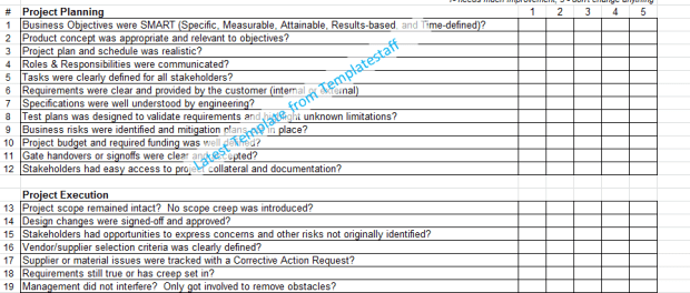 Lessons learned template in microsoft excel for Attribute gage r r excel template