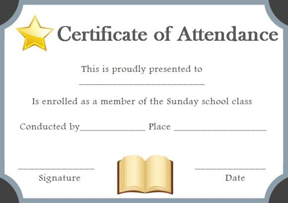 Sunday School Certificate Template 17+ Specialized Certificates for