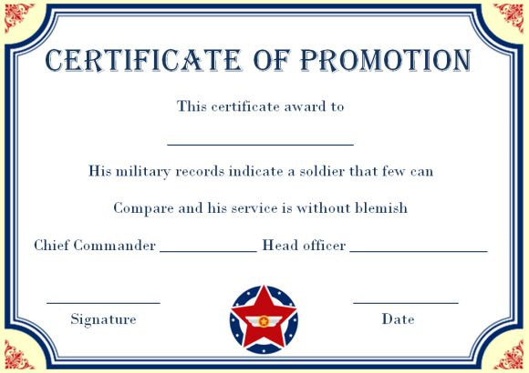 Promotion Certificate Template  20+ Free Templates for Students