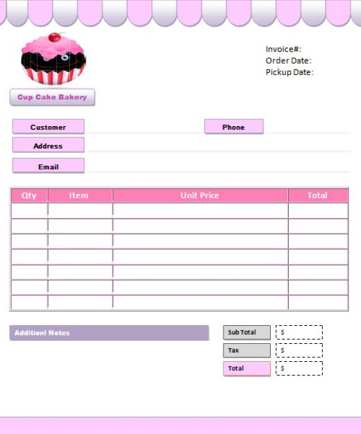 7+ Free Cake Invoice Templates for Bakery Business - Template Sumo