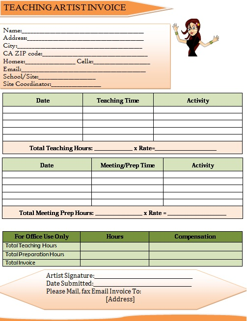 Dance Invoice Templates for Studios  Independent Professionals