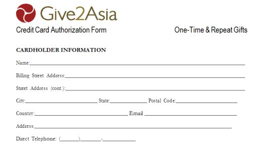Credit Cards Authorization Form Template 39 Ready to Use Templates