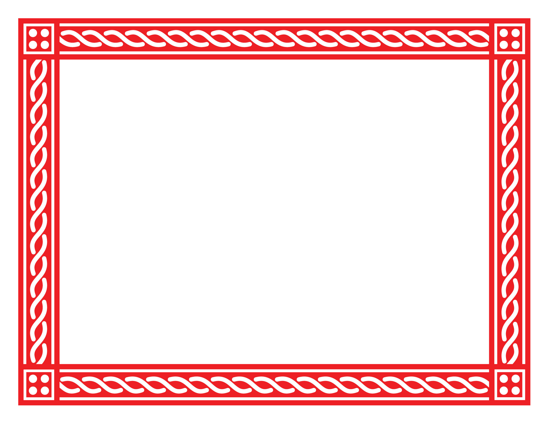 red certificate borders
