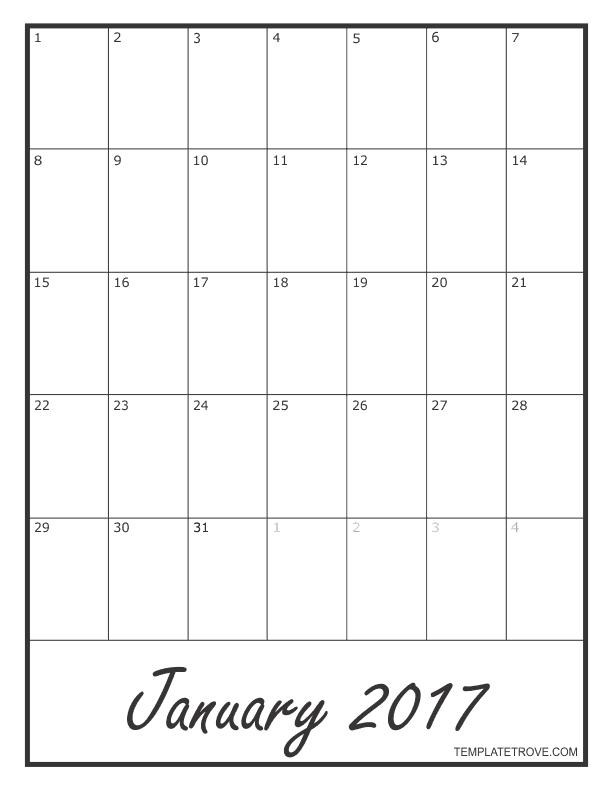 Photo Calendar Template Create A Printable Photo Calendar 2017 Blank Monthly Calendar