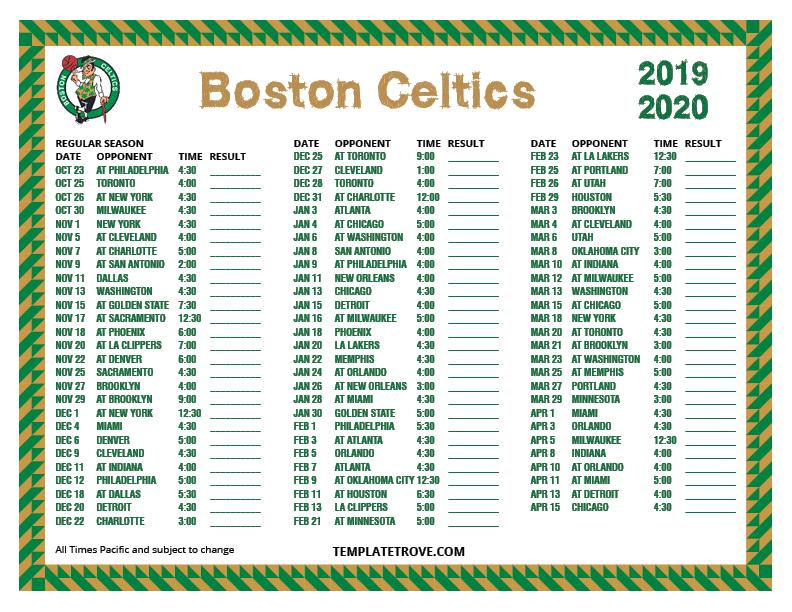 2019 template calendar