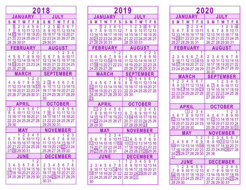 Three Year Calendar Template Image Collections Template Design