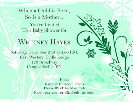 Baby Shower Invitation 1 - baby shower invitation templates for microsoft word