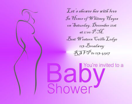 Baby Shower Invitation 2 - Editable Baby Shower Invitations