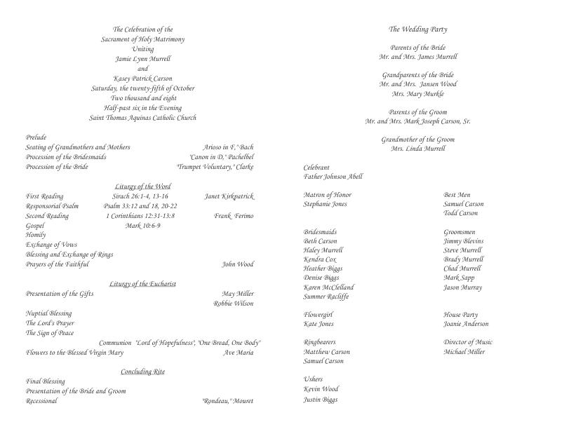 wedding program templates publisher