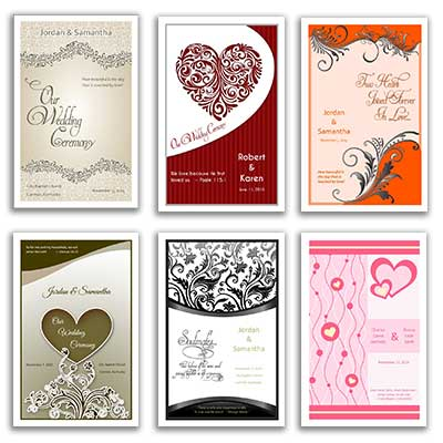 Free Wedding Templates Programs, Response Cards and More