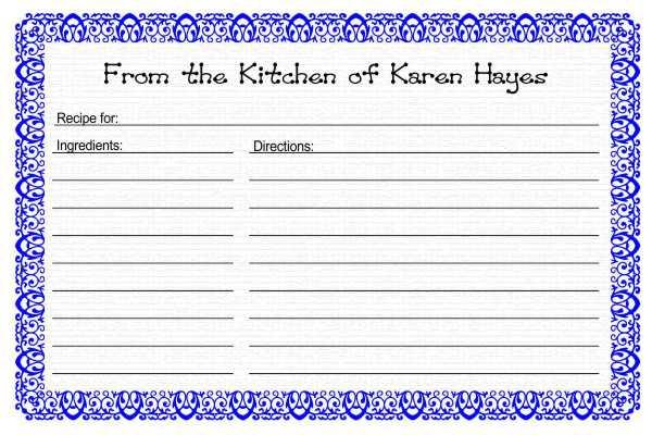 Microsoft Office Recipe Card Template microsoft office recipe - free recipe card templates for microsoft word