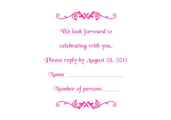 rsvp template word