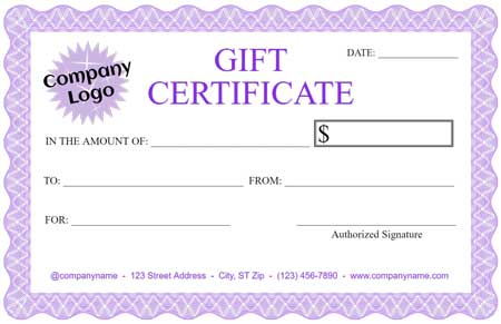 Gift Certificate Maker \u2013 Template Trove