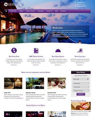 Buy Hotel Wordpress Theme  Website Template 2018 - property management websites templates