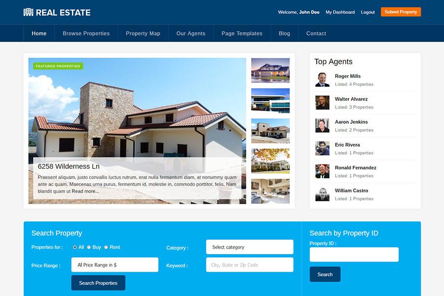 Best Real Estate WordPress Theme 2019 Property Listings