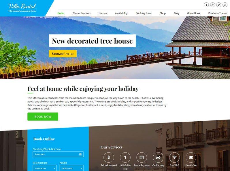 Villa Rental Booking Theme (2018) Powerful Rental Property Management - property management websites templates