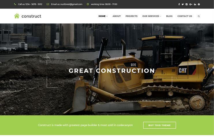 35+ Best Construction WordPress Themes 2019 - SlashWP