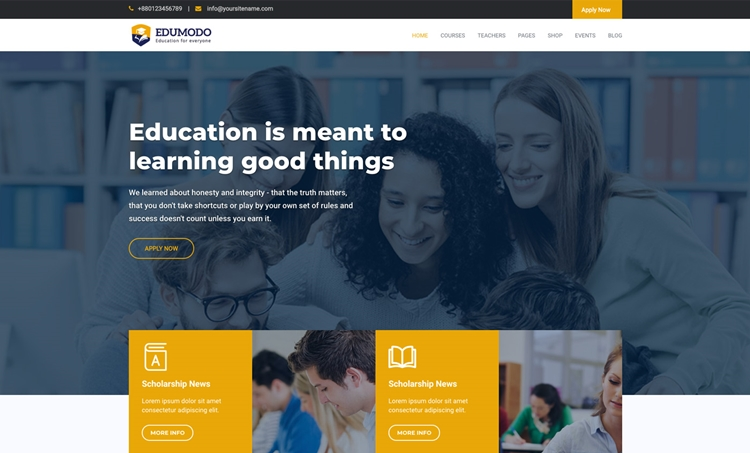 55+ Best Education WordPress themes for Training centers, Schools