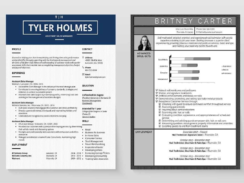 functional chronological resumes