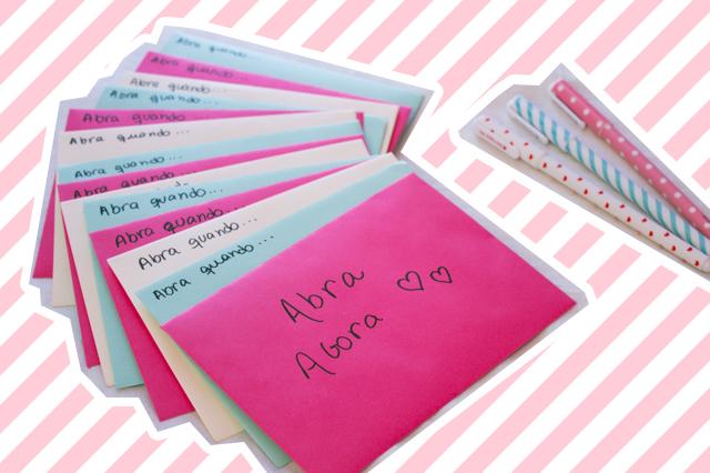 Cartas \u0027abra quando\u0027 \u2013 Presente para o namorado Tempo Nada Vago