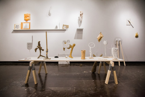"Andrew Boatright, installation view, ""Recent Works,"" 2013, at GSU's Welch School Galleries."