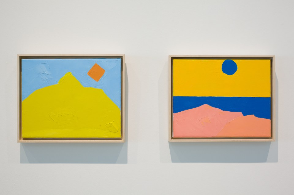 Words and Places: Etel Adnan, installation view, 2013. Courtesy the CCA Wattis Institute for Contemporary Arts. Photo by Johnna Arnold Photography.