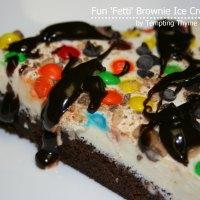 {Fun 'Fetti' Ice Cream Pizza}