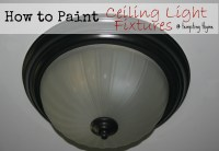 How to Paint an Old {Ugly} Light Fixture! | tempting thyme