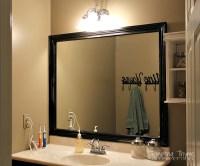 Framing a Bathroom Mirror | tempting thyme