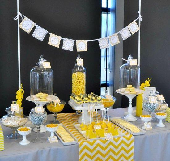Chemin de table chevron en tissu jaune deco mariage baptêmes Eloys - des idees pour decorer sa maison