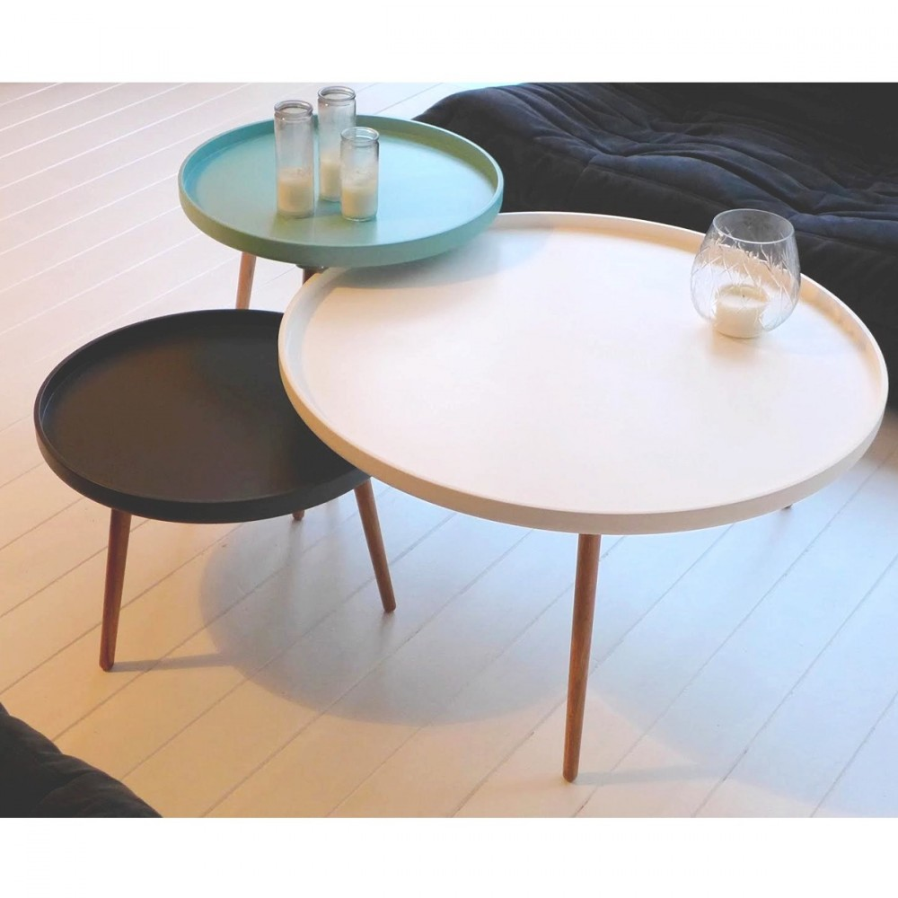 Table Basse Scandinave Blanche Table Basse Scandinave Plateau Blanc Tendancesdesign Fr