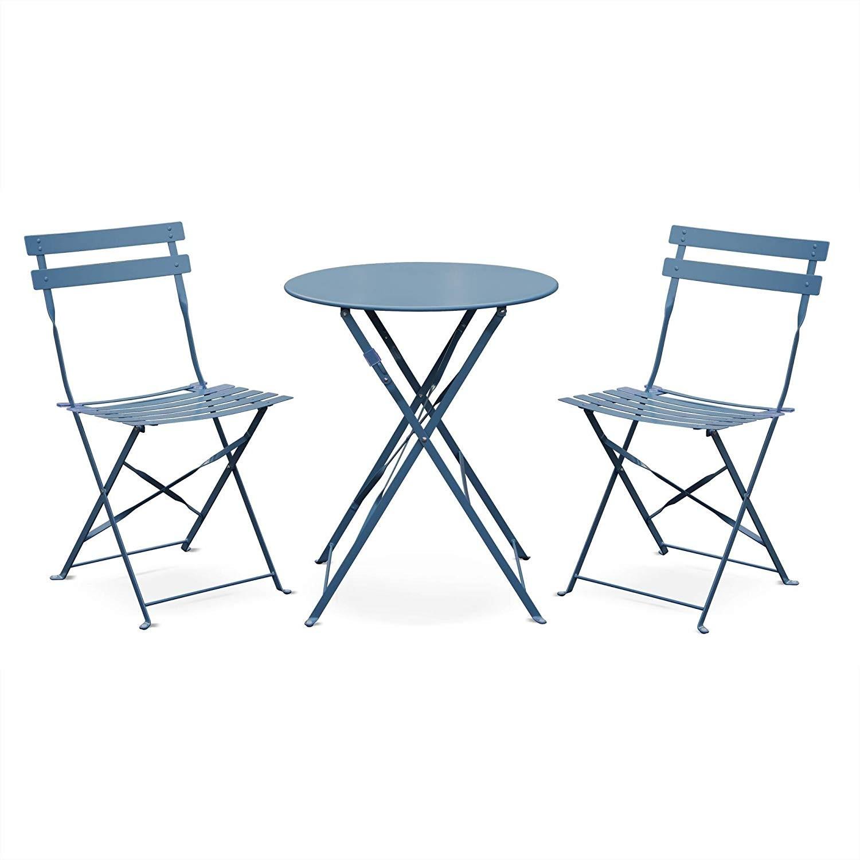 Salon De Jardin Pliable | Table De Jardin En Teck Avec Chaises En ...