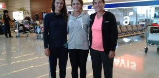 Llegada de Uruguay luego de la actuación en la Fed Cup