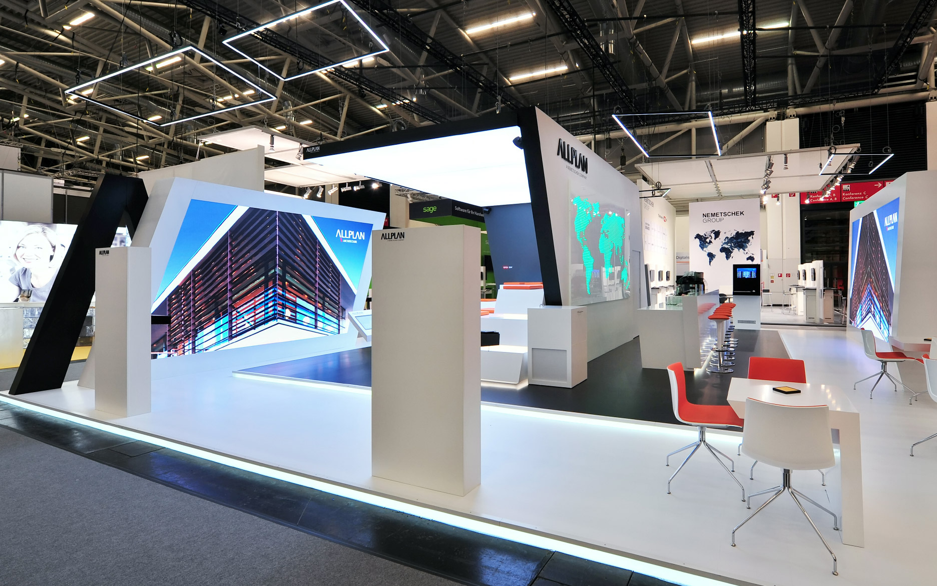 Terrassenbeleuchtung Boden Led By Innovative Wand Led Wand Mieten Led Screens Für Messe Pos Und Event