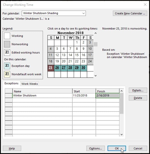 Microsoft Project and Shading Gantt Chart Time Periods