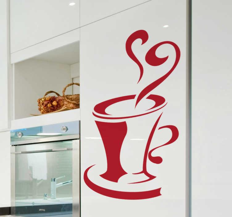 kitchen cup wall sticker tenstickers kitchen wall stickers interior designs architectures ideas