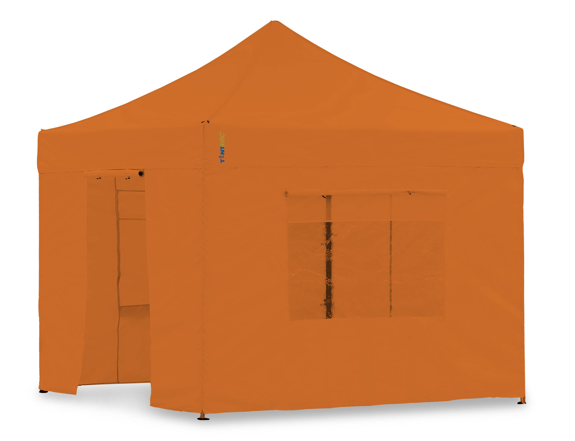 Faltpavillon 4x4m Seitenwand Set Pvc Orange 4x4m Für Tentastic Faltpavillion