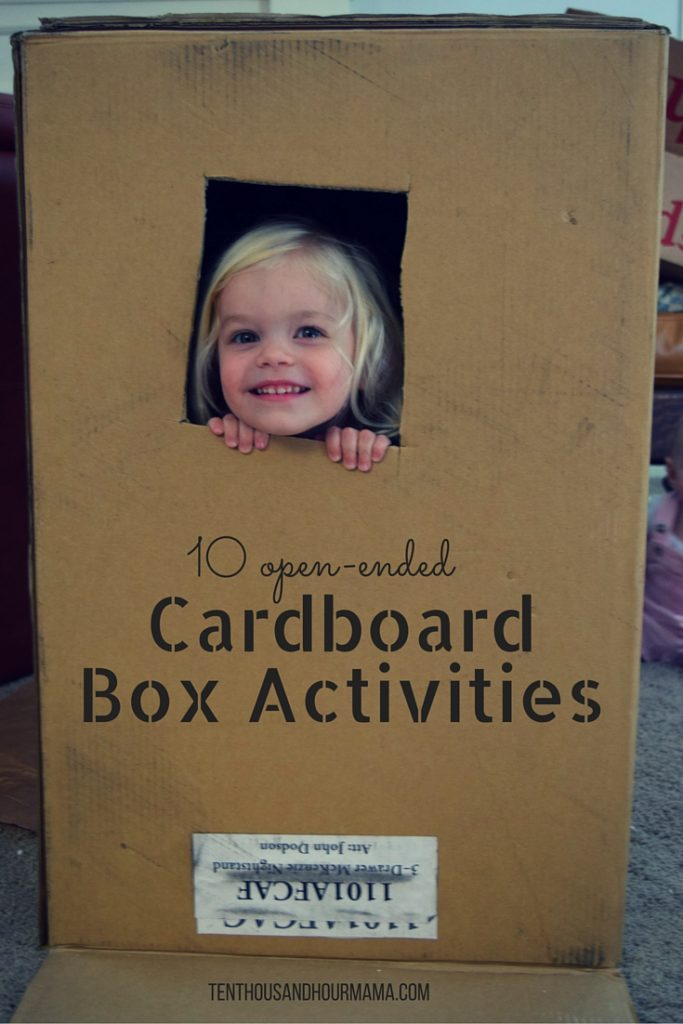 10 open-ended cardboard box activities