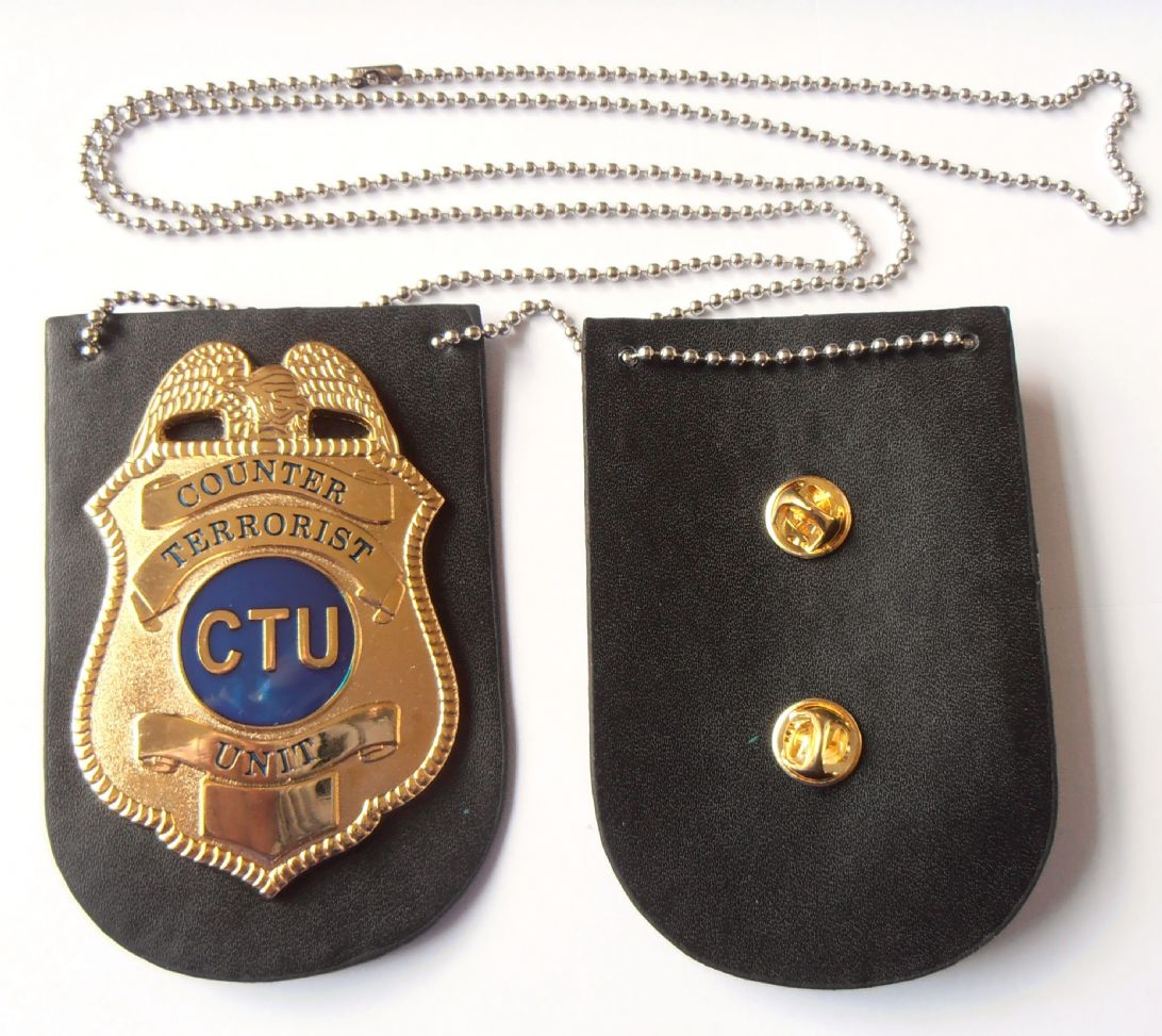 Shop 24 Tv Ctu Jack Bauer Badge From The Tv Show 24 With Leather