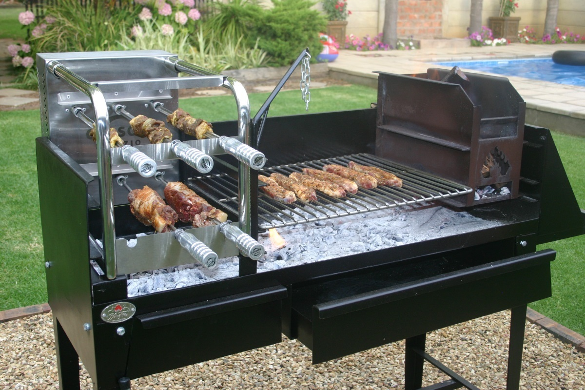 Barbecue Exterieur Barbecue Braai Trolley Voor De Carson Rodizio Kit Lm30 Lifestyle