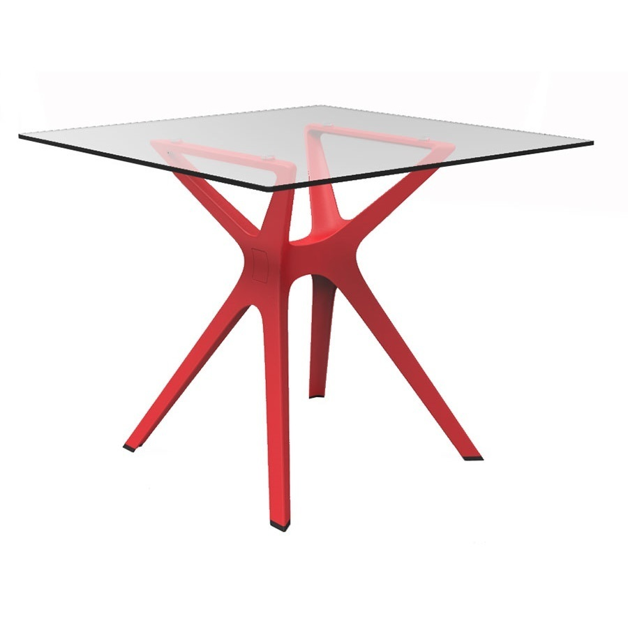 Table De Jardin Rouge Table Jardin Ronde Rouge