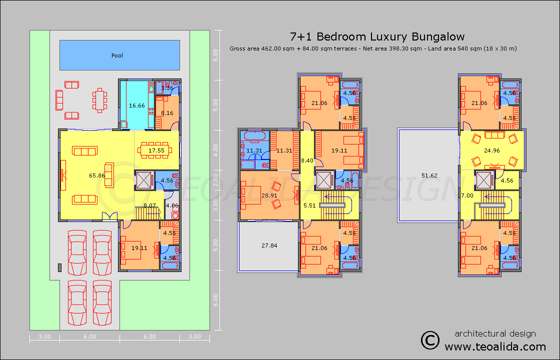 M Persegi House Floor Plans 50 400 Sqm Designed By Teoalida Teoalida Website