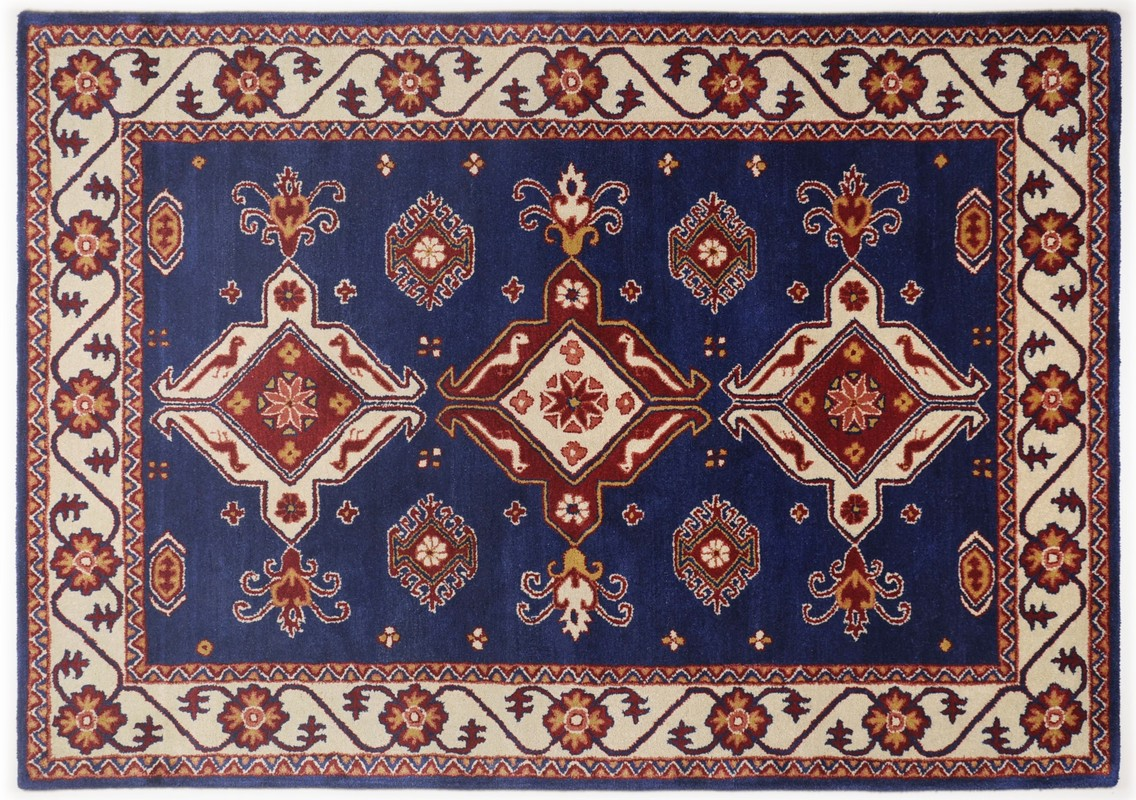 Orient Teppich Oriental Collection Orient Teppich Royal Kazak 242 Blau