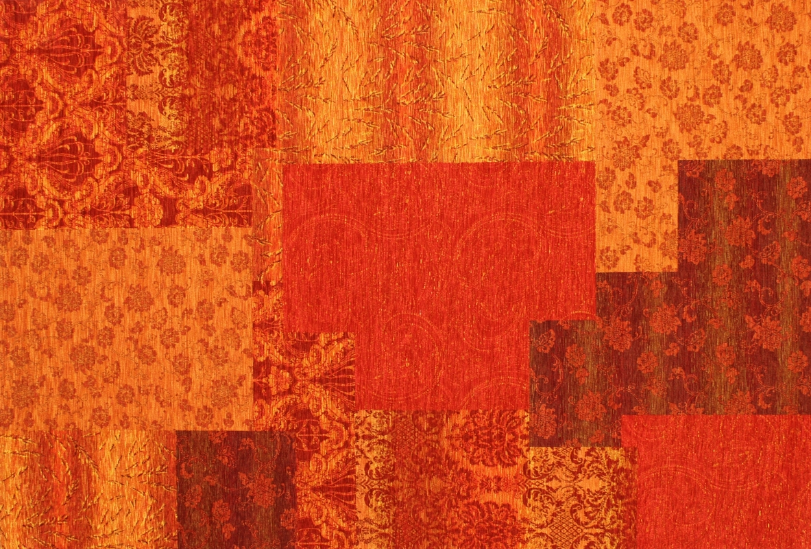 Teppichboden Orange Kelii Patchwork Teppich Alaska Orange