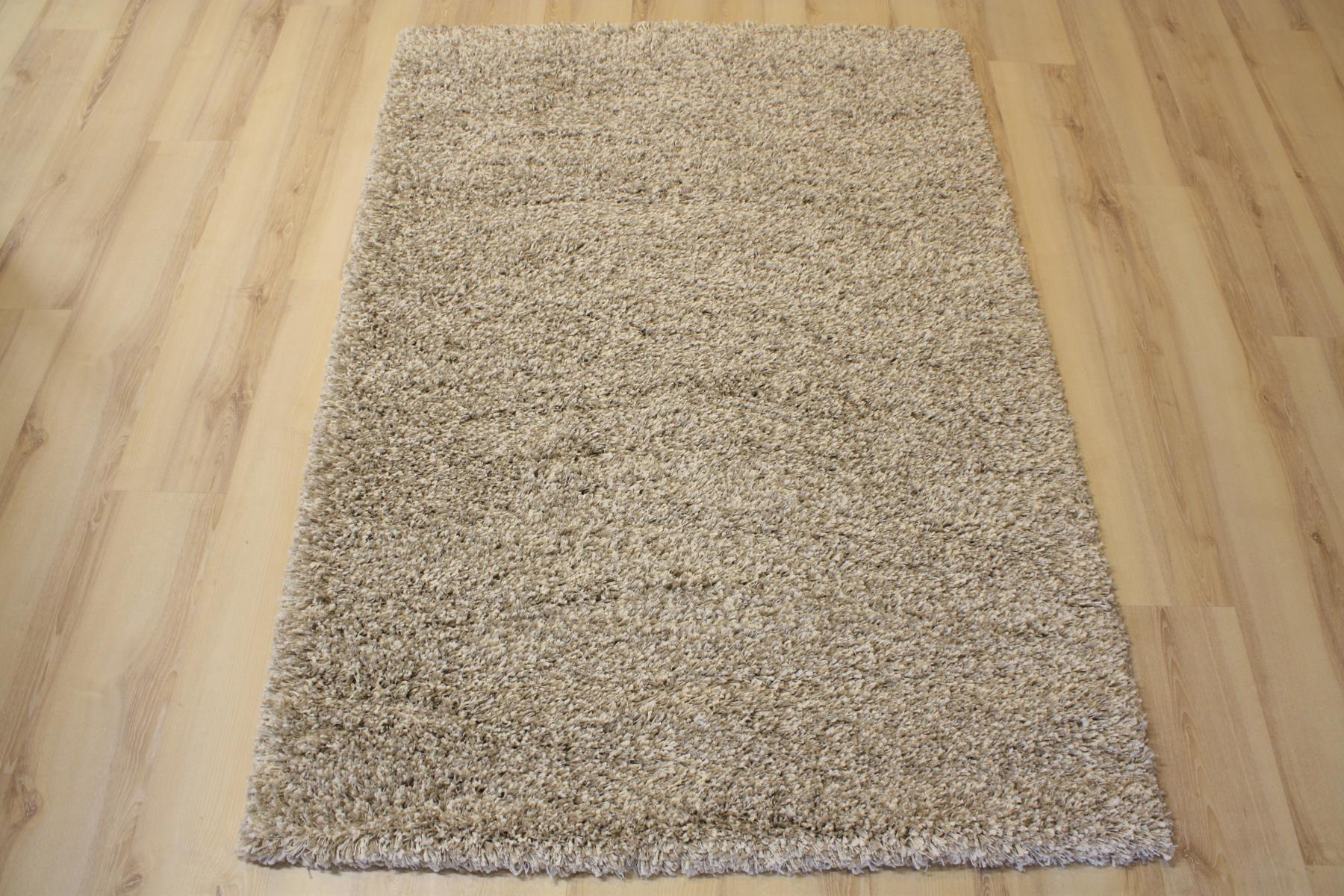 High Pile Carpet Rug High Pile 39001 Twilight 2211 White Linen 160x160cm Ebay
